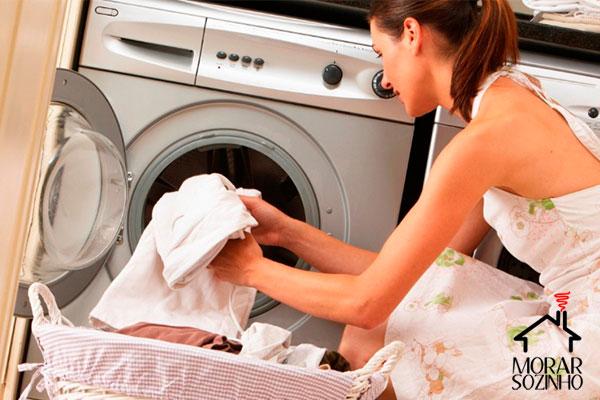 lavar roupa branca morar sozinho