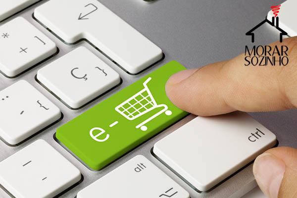 compras online morar sozinho
