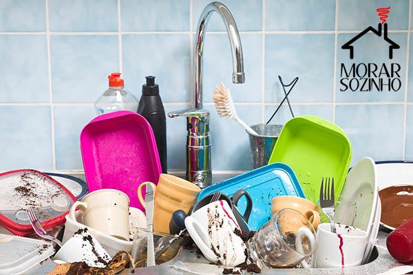 lavar a louça dicas morar sozinho