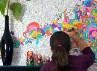 papel de parede para colorir morar sozinho