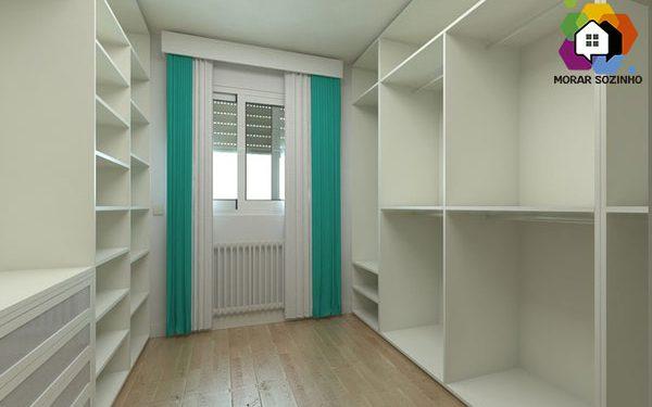 como fazer um closet morar sozinho