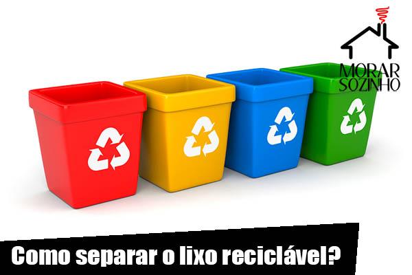 separar o lixo reciclável morar sozinho
