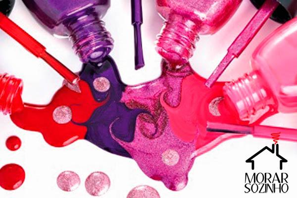 reparos domésticos usando esmalte