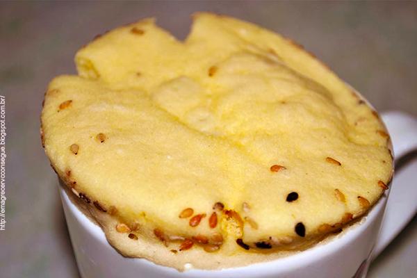 pão de caneca sem glútem sem lactose morar sozinho receitas